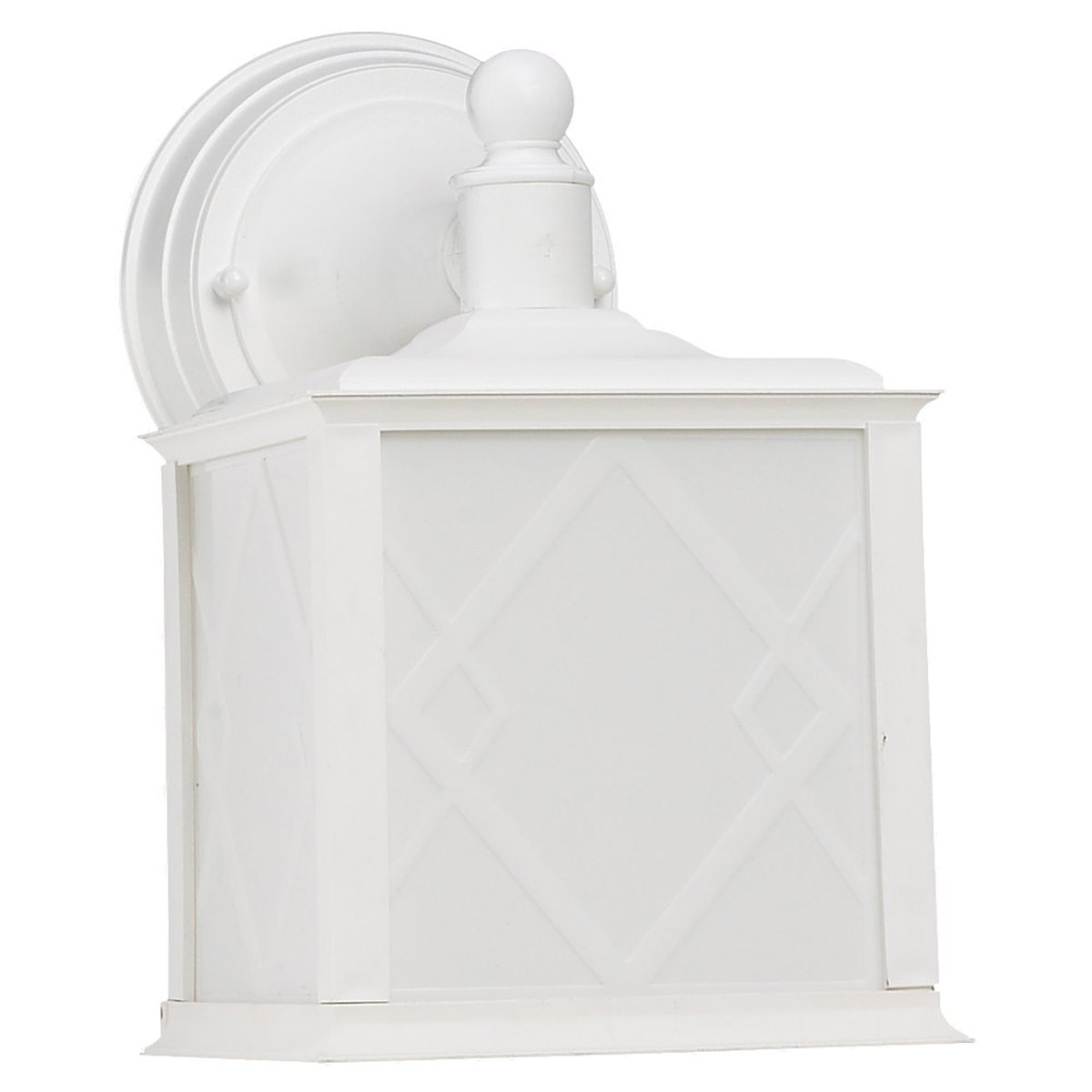 Sea Gull Lighting Harbor Point 1 Light Outdoor Wall Lantern in White 88198BLE-15
