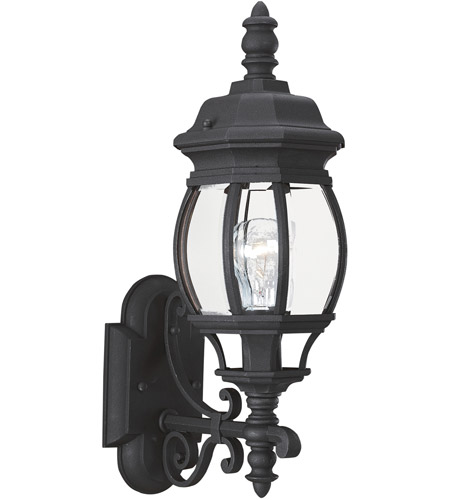 Sea Gull Lighting Wynfield 1 Light Outdoor Wall Lantern in Black 88200-12