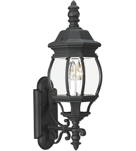 Sea Gull Lighting Wynfield 2 Light Outdoor Wall Lantern in Black 88201-12
