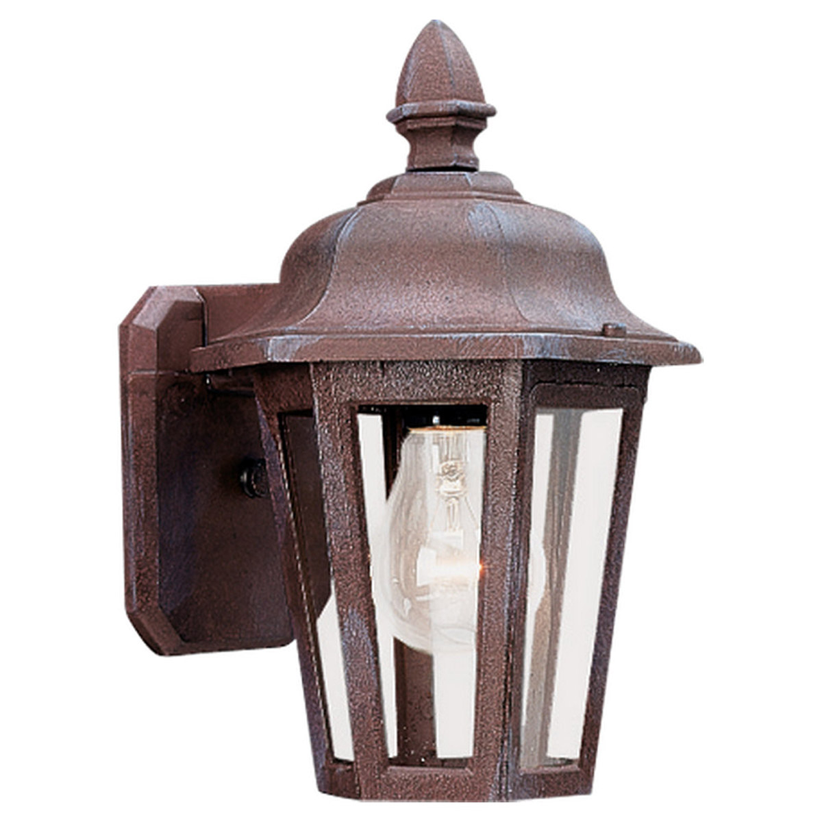 Sea Gull Lighting Brentwood 1 Light Outdoor Wall Lantern in Sienna 8822-26