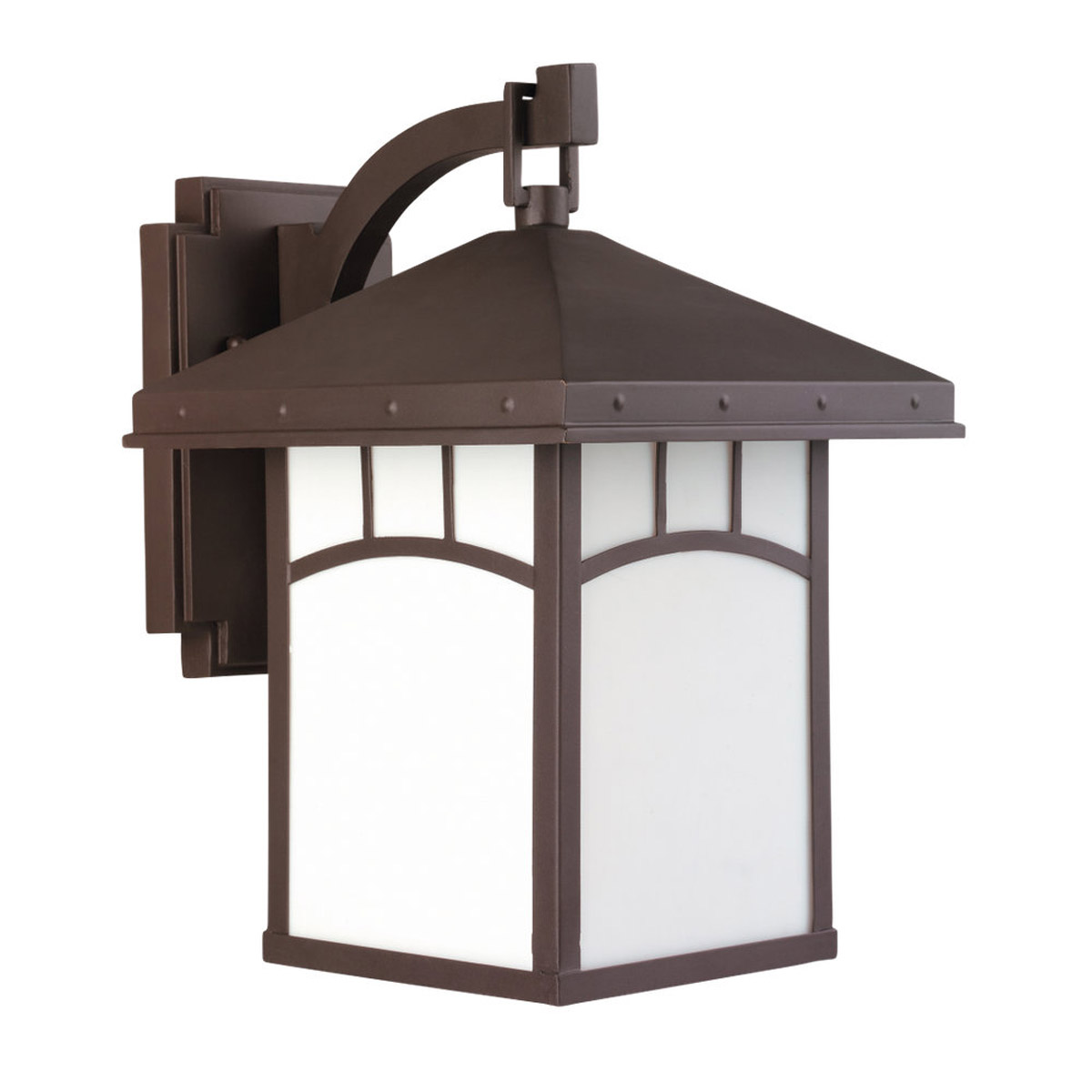 Sea Gull Lighting Ashville 1 Light Outdoor Wall Lantern in Cottage Bronze 88231-833 photo