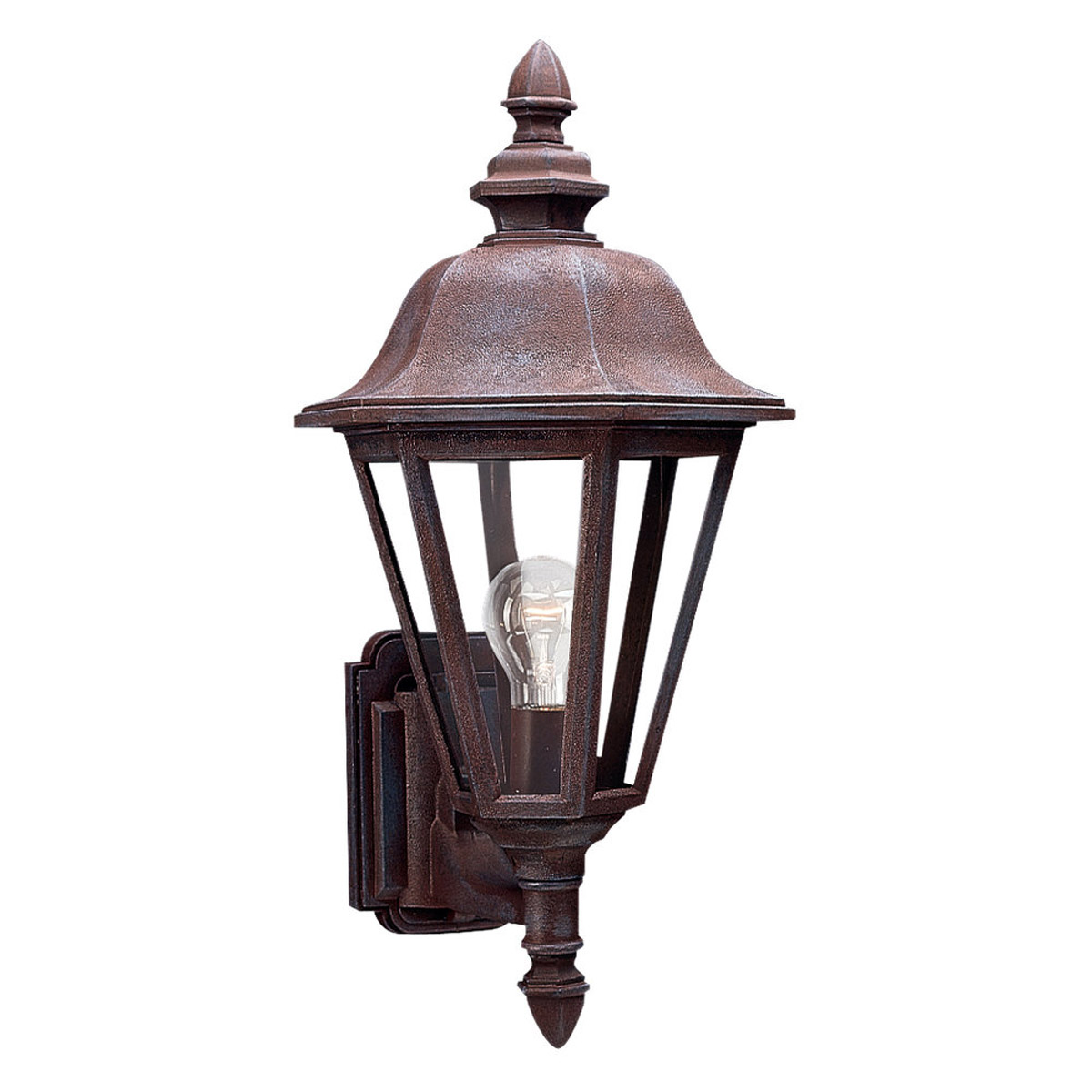 Sea Gull Lighting Brentwood 1 Light Outdoor Wall Lantern in Sienna 8824-26