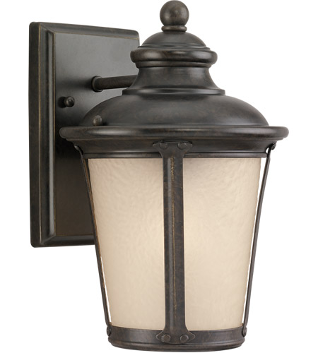 Sea Gull Lighting Cape May 1 Light Outdoor Wall Lantern in Burled Iron 88240-780