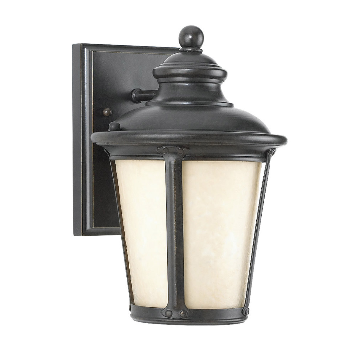 Sea Gull 88240D-780 Cape May 1 Light 10 inch Burled Iron Outdoor Wall Lantern in Darksky Compliant photo