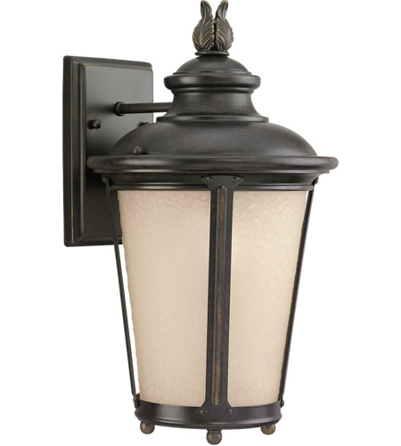 Sea Gull 88241-780 Cape May 1 Light 15 inch Burled Iron Outdoor Wall Lantern photo