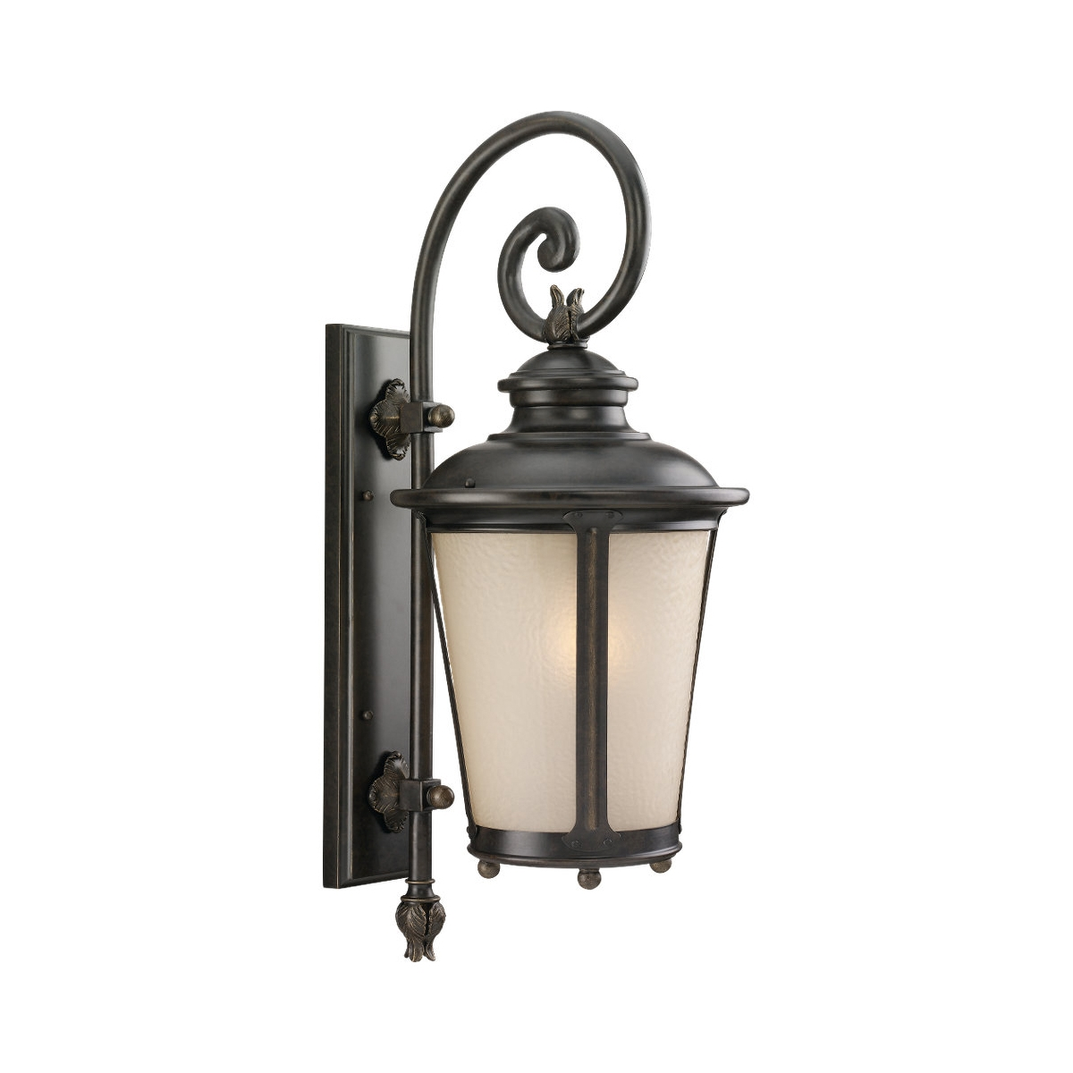 Sea Gull 8824291S-780 Cape May LED 26 inch Burled Iron Outdoor Wall Lantern photo