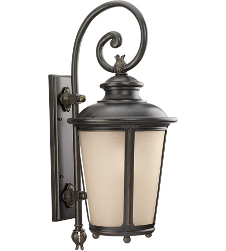 Sea Gull Lighting Cape May 1 Light Outdoor Wall Lantern in Burled Iron 88243-780