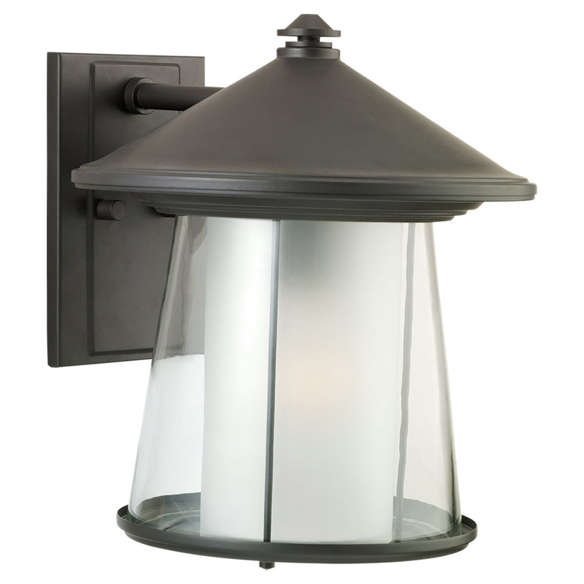 Sea Gull Lighting Strathmore 1 Light Outdoor Wall Lantern in Cottage Bronze 88321-833