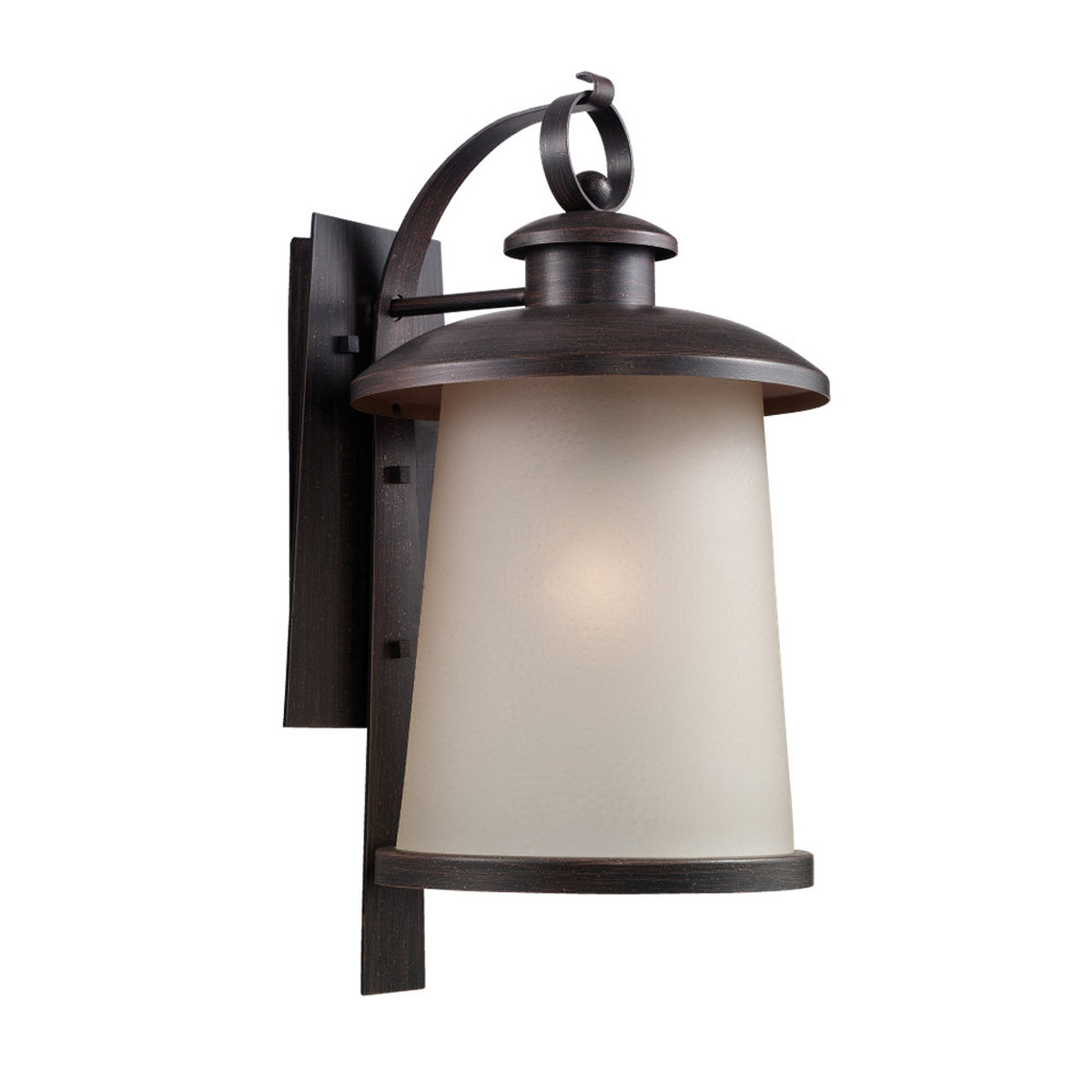 Sea Gull Lighting 59th Street 1 Light Outdoor Wall Lantern in Textured Rust Patina 88332-08
