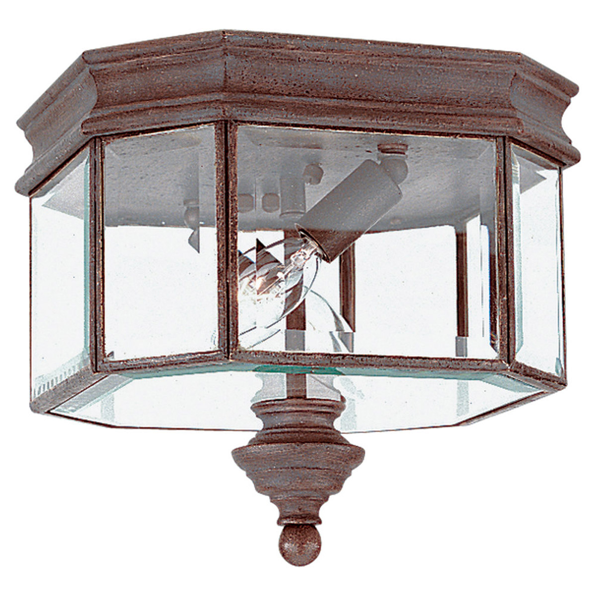 Sea Gull 8834-08 Hill Gate 2 Light 9 inch Textured Rust Patina Outdoor Wall Lantern photo