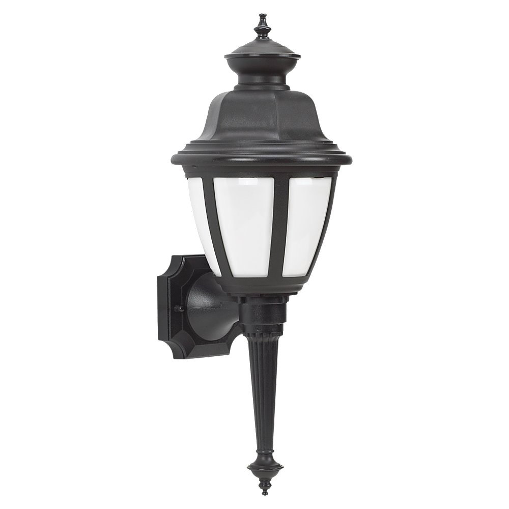Sea Gull Lighting Belmar 1 Light Outdoor Wall Lantern in Black 88390BLE-12