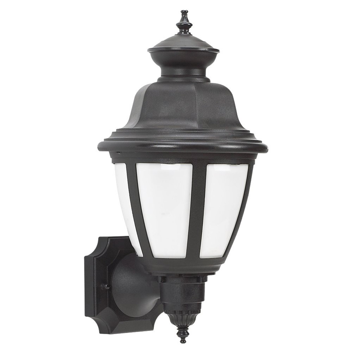 Sea Gull Lighting Belmar 1 Light Outdoor Wall Lantern in Black 88392BLE-12
