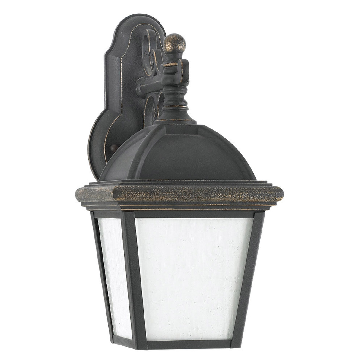 Sea Gull Lighting Charleston 1 Light Outdoor Wall Lantern in Gold Patina 8843D-85