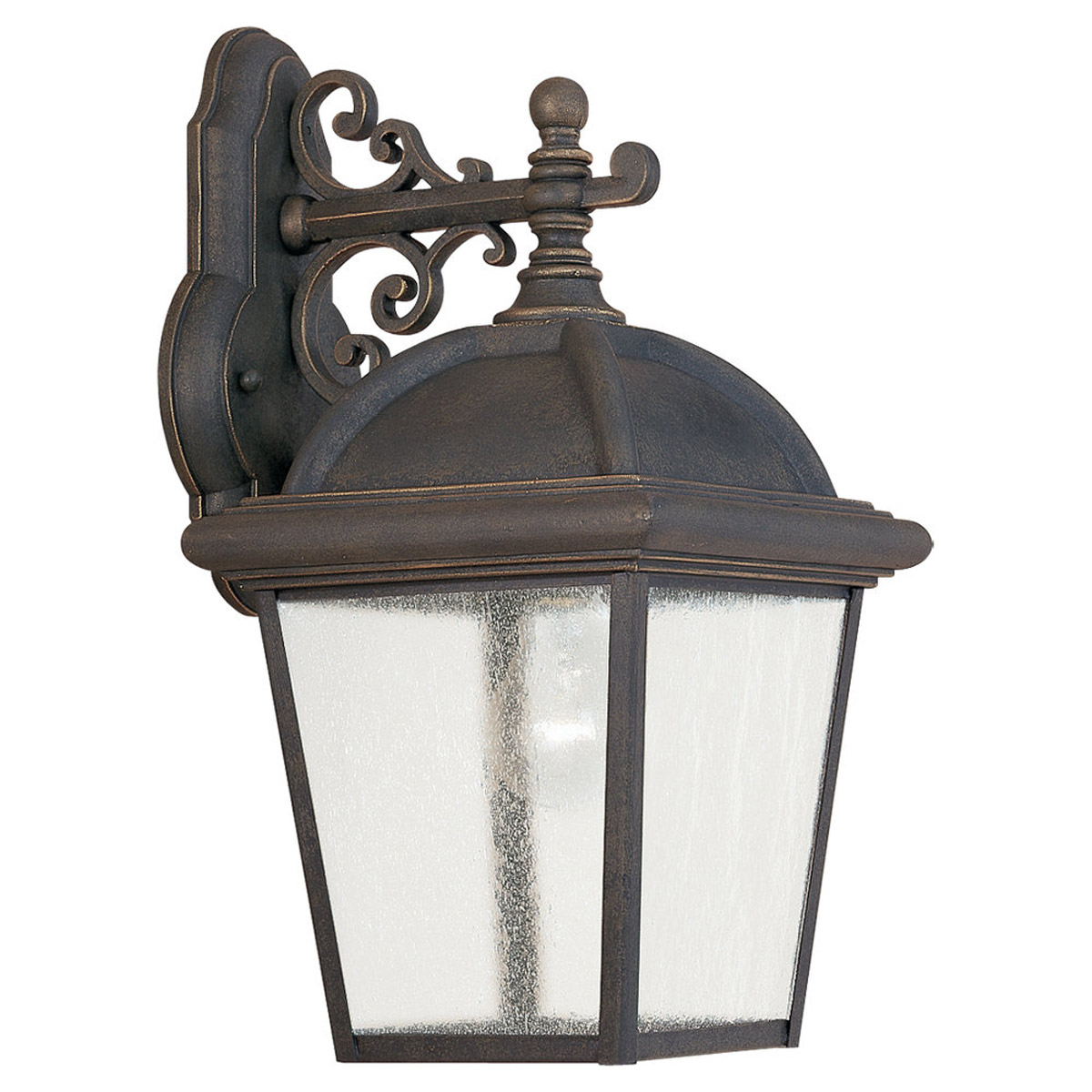 Sea Gull Lighting Charleston 1 Light Outdoor Wall Lantern in Gold Patina 8844-85