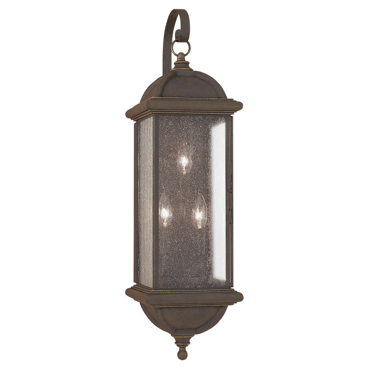 Sea Gull Lighting Charleston 3 Light Outdoor Wall Lantern in Gold Patina 8846-85