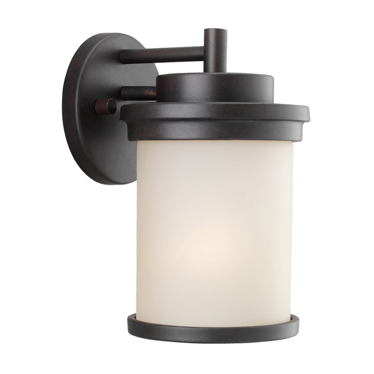 Sea Gull Lighting Winnetka 1 Light Outdoor Wall Lantern in Misted Bronze 88660-814