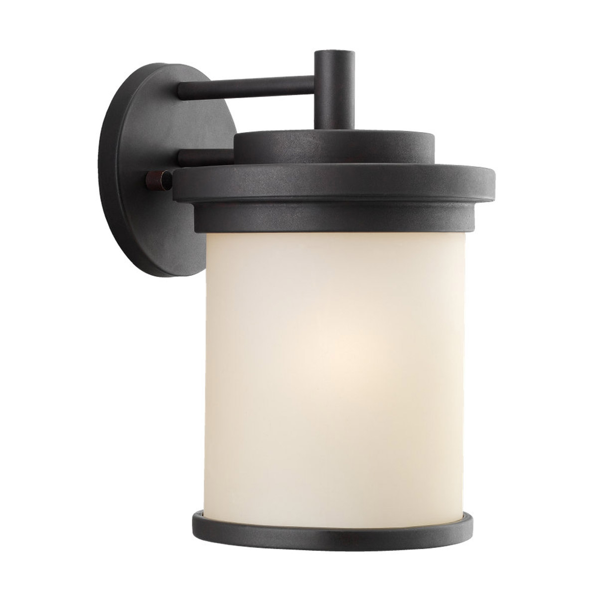 Sea Gull Lighting Winnetka 1 Light Outdoor Wall Lantern in Misted Bronze 88661-814