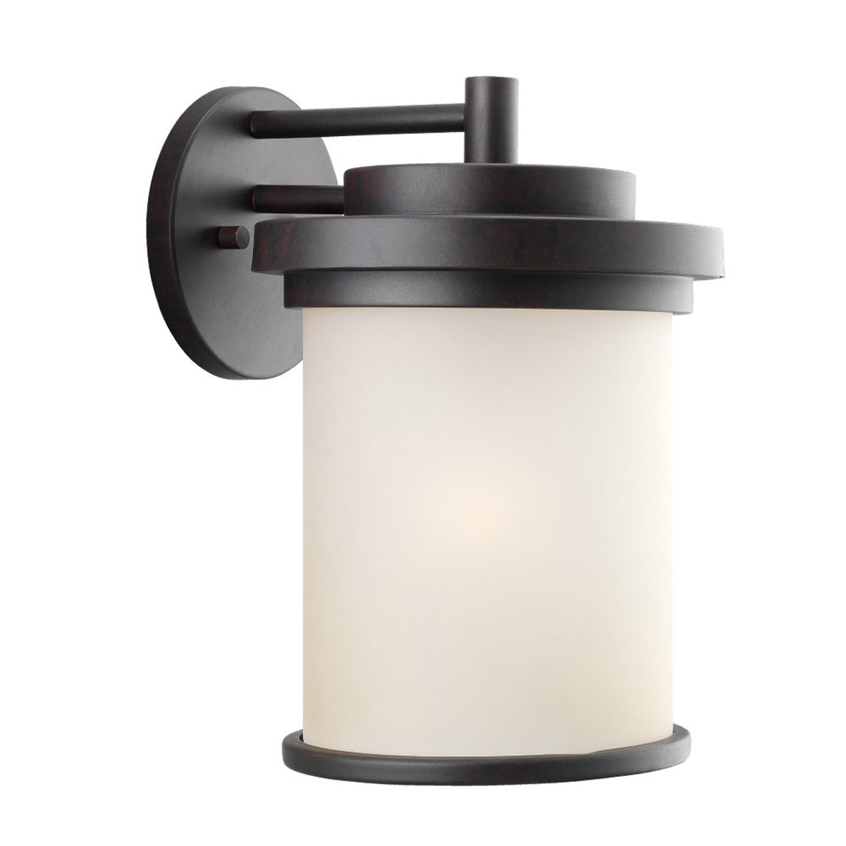 Sea Gull 88662-814 Winnetka 1 Light 15 inch Misted Bronze Outdoor Wall Lantern in Cafe Tint Glass photo