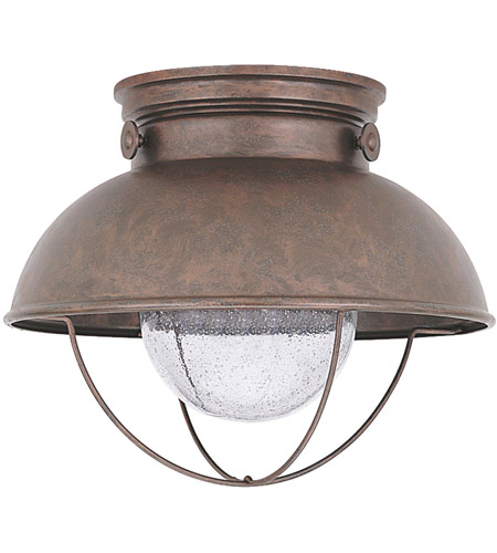 Sea Gull 886993S-44 Sebring LED 11 inch Weathered Copper Outdoor Flush Mount photo