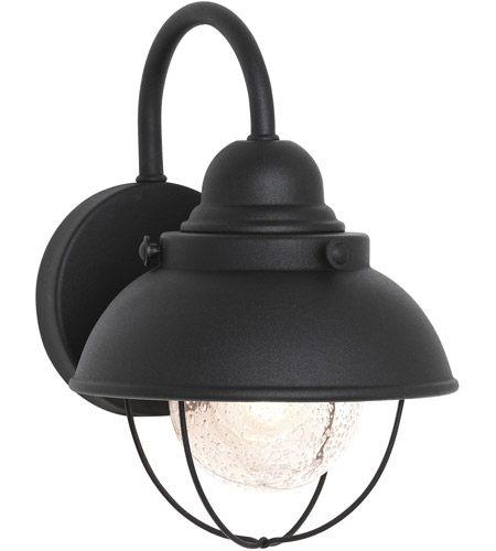Sea Gull 8870-12 Sebring 1 Light 11 inch Black Outdoor Wall Lantern photo