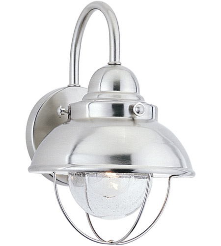 Sea Gull Lighting Sebring 1 Light Outdoor Wall Lantern in Brushed Stainless 8870-98 photo