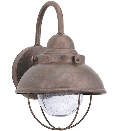 Sea Gull 887093S-44 Sebring LED 11 inch Weathered Copper Outdoor Wall Lantern photo