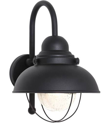 Sea Gull Lighting Sebring 1 Light Outdoor Wall Lantern in Black 8871-12 photo