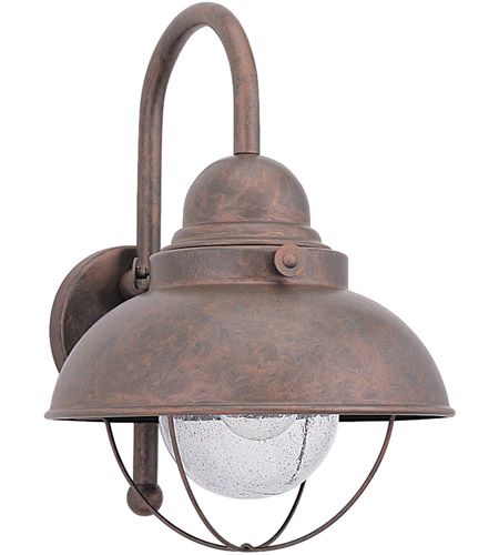 Sea Gull Lighting Sebring 1 Light Outdoor Wall Lantern in Weathered Copper 8871-44