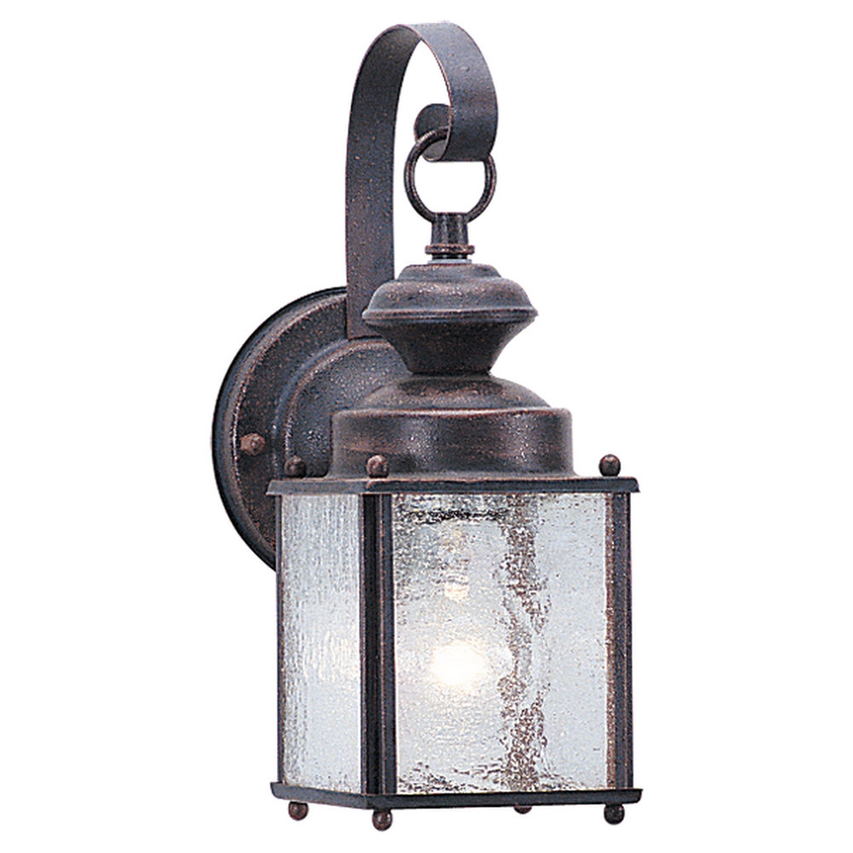 Sea Gull 8880-08 Jamestowne 1 Light 11 inch Textured Rust Patina Outdoor Wall Lantern photo