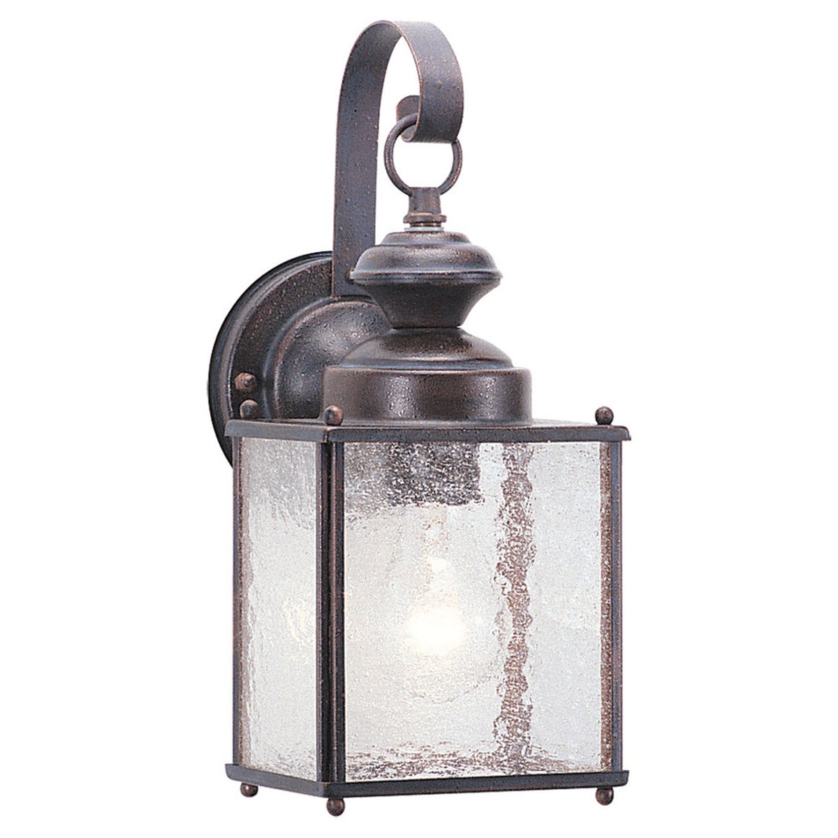 Sea Gull Lighting Jamestowne 1 Light Outdoor Wall Lantern in Textured Rust Patina 8881-08