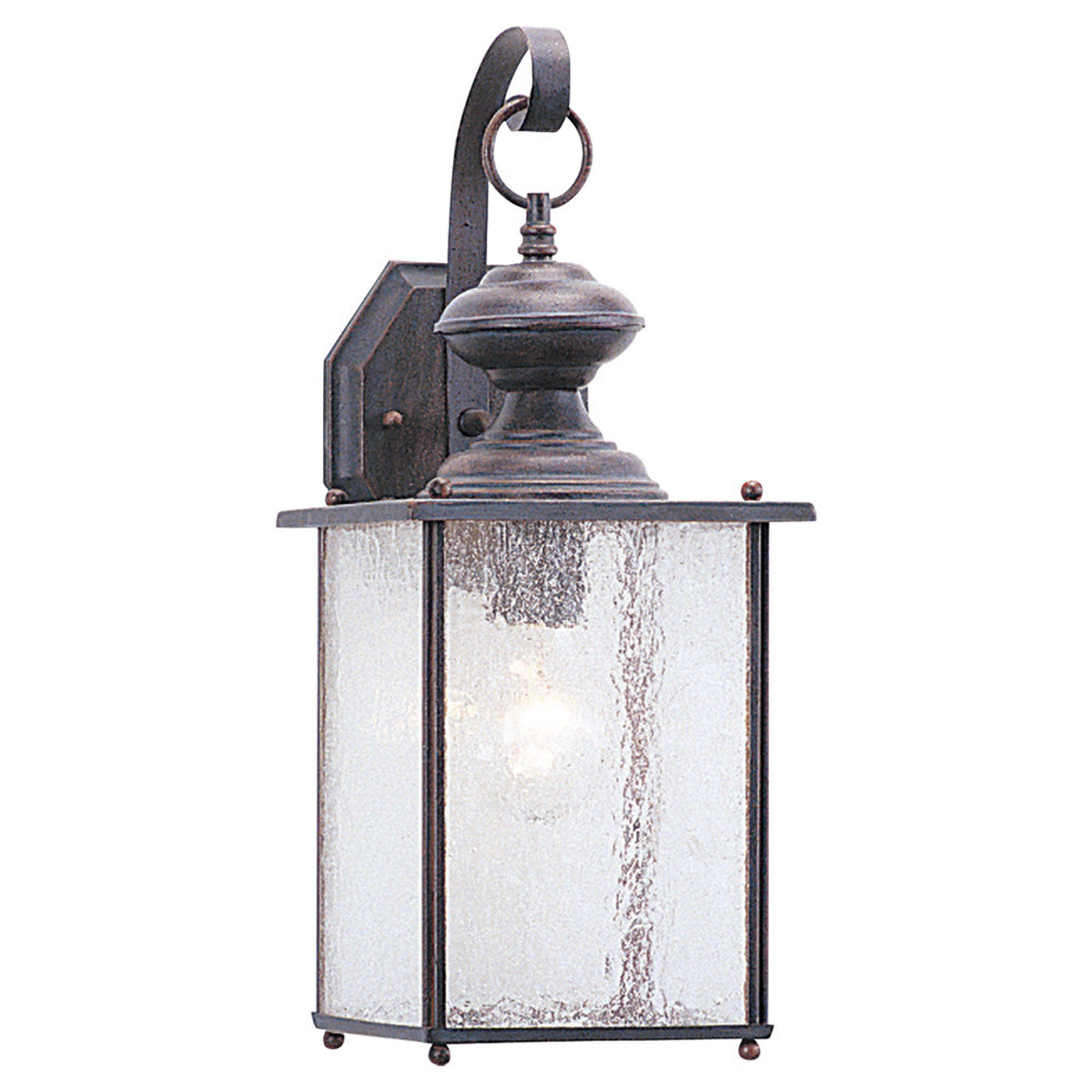 Sea Gull Lighting Jamestowne 1 Light Outdoor Wall Lantern in Textured Rust Patina 8882-08
