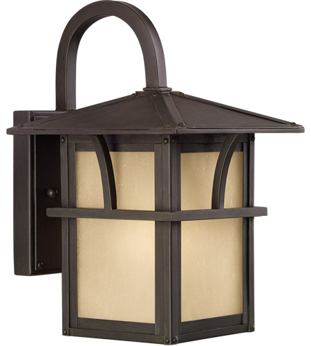 Sea Gull Lighting Medford Lakes 1 Light Outdoor Wall Lantern in Statuary Bronze 88880-51