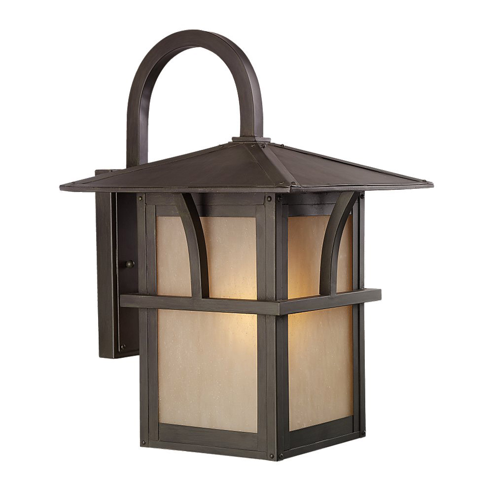 Sea Gull 88882BLE-51 Medford Lakes 1 Light 17 inch Statuary Bronze Outdoor Wall Lantern in Fluorescent photo