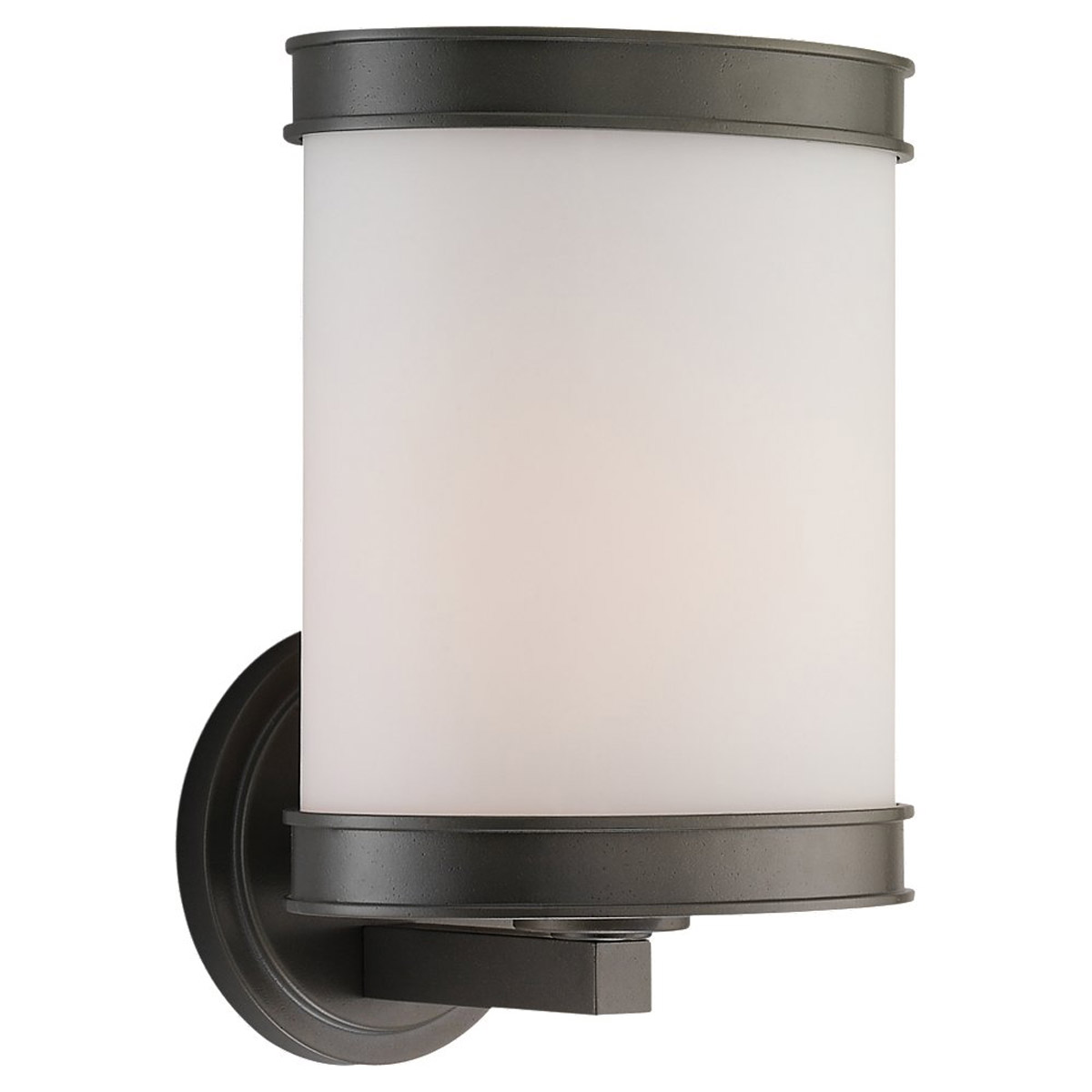 Sea Gull Lighting Amsterdam 1 Light Outdoor Wall Lantern in Rustic Pewter 88886-850 photo