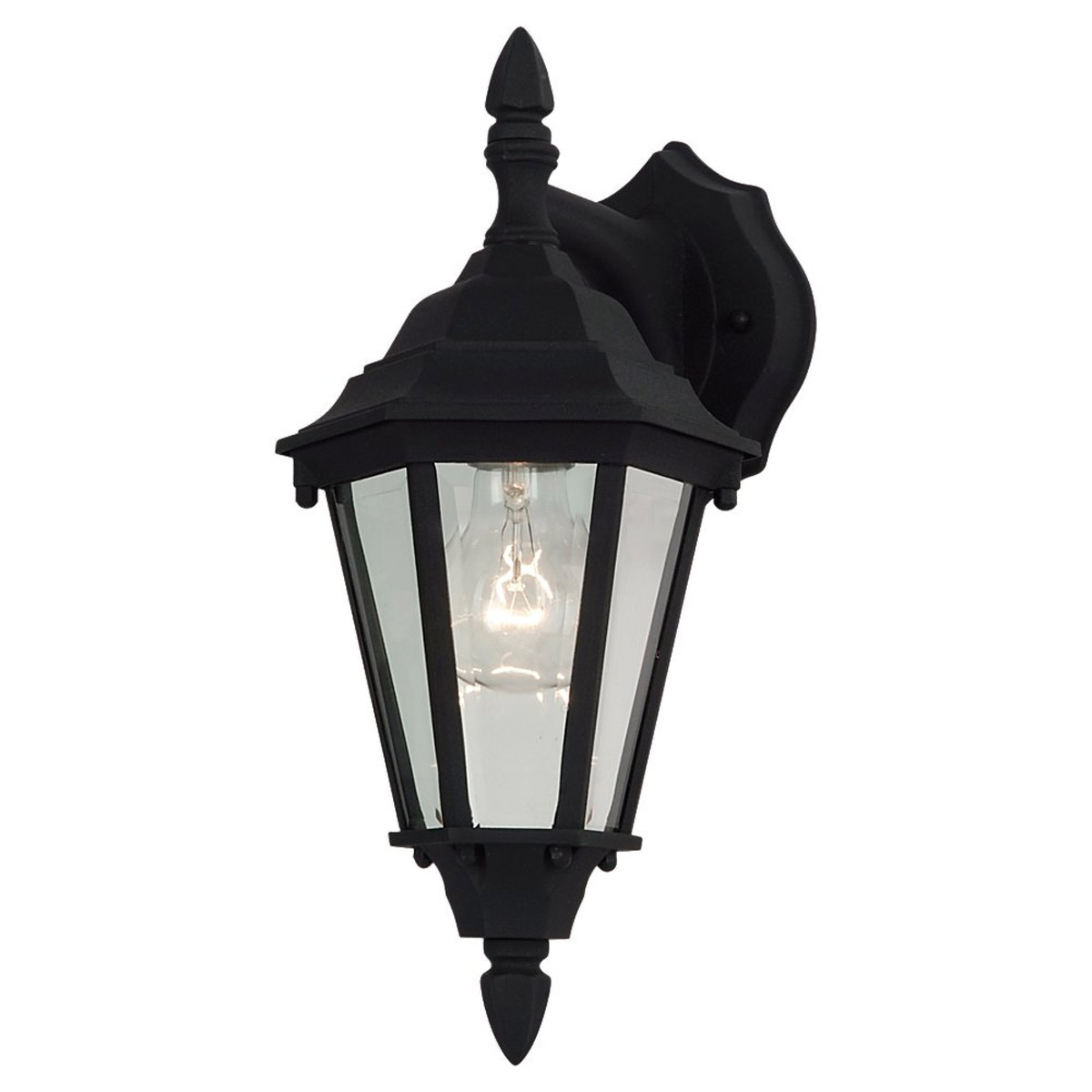 Sea Gull Lighting Bakersville 1 Light Outdoor Wall Lantern in Black 88938-12