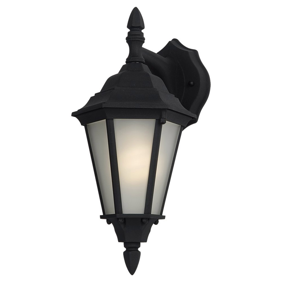 Sea Gull Lighting Bakersville 1 Light Outdoor Wall Lantern in Black 88938BLE-12