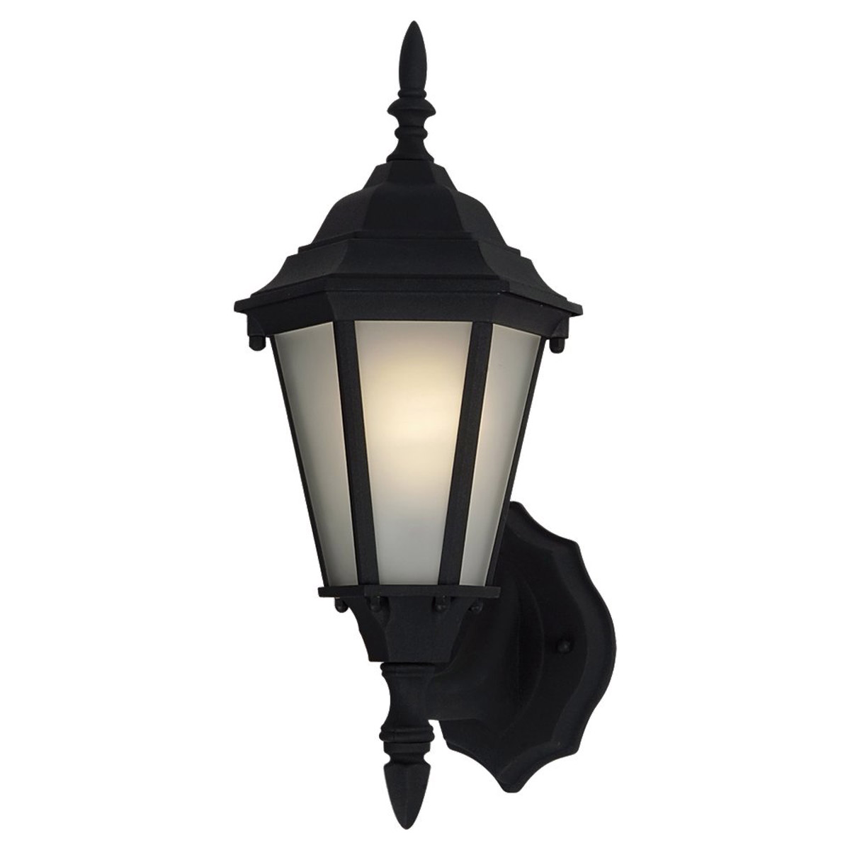 Sea Gull Lighting Bakersville 1 Light Outdoor Wall Lantern in Black 88939BLE-12