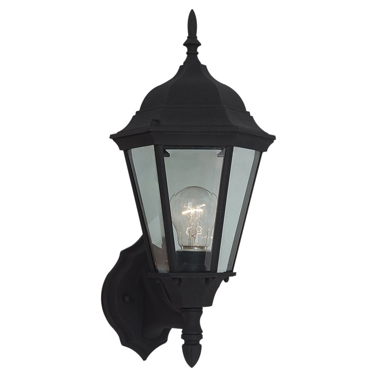 Sea Gull Lighting Bakersville 1 Light Outdoor Wall Lantern in Black 88941-12