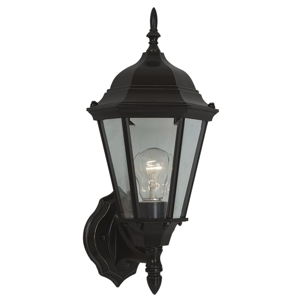 Sea Gull 88941-782 Bakersville 1 Light 17 inch Heirloom Bronze Outdoor Wall Lantern in Standard photo
