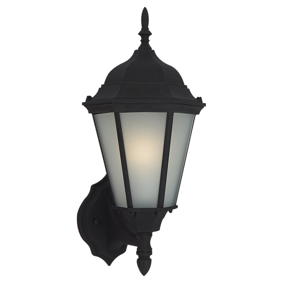 Sea Gull Lighting Windgate 1 Light Outdoor Wall Lantern in Black 88941BL-12