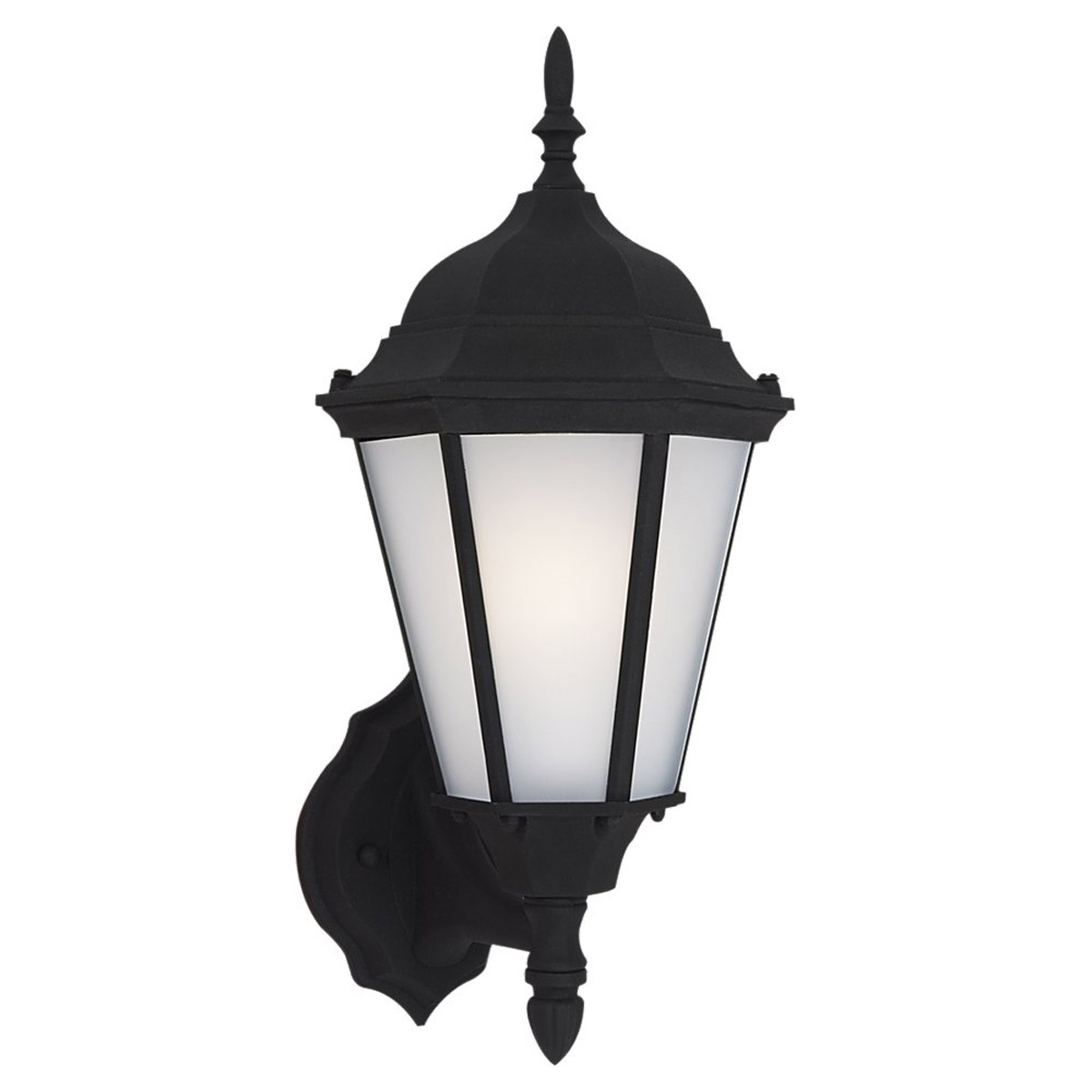 Sea Gull Lighting Bakersville 1 Light Outdoor Wall Lantern in Black 88941BLE-12