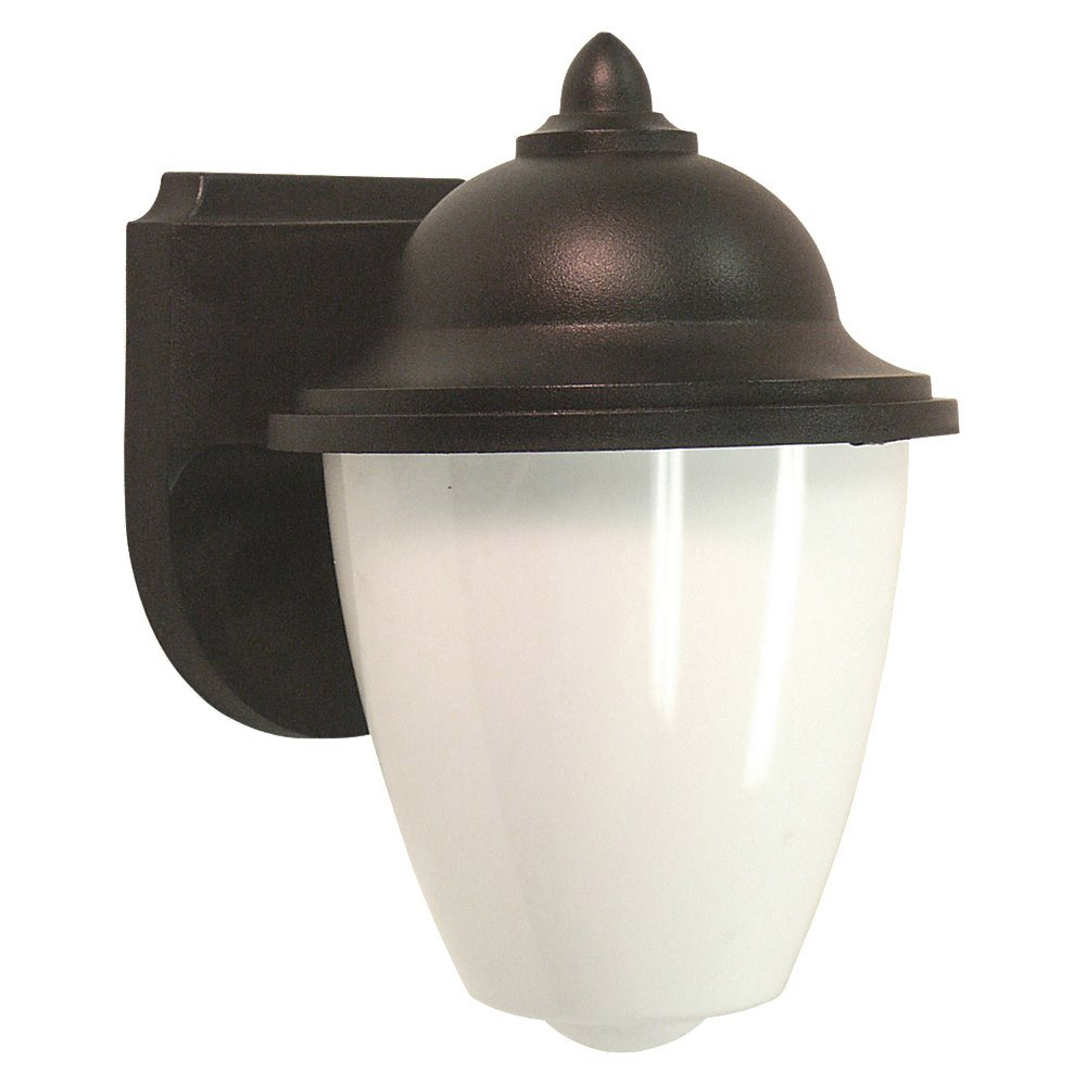 Sea Gull 89018BLE-12 Lormont 1 Light 9 inch Black Outdoor Wall Lantern in No Photocell photo