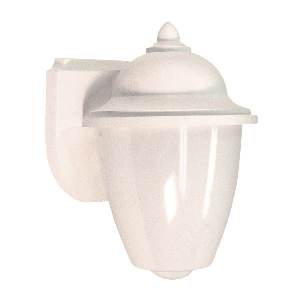 Sea Gull 89018BLE-15 Lormont 1 Light 9 inch White Outdoor Wall Lantern in No Photocell photo