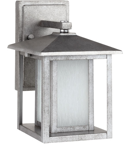 Sea Gull Hunnington 1 Light Outdoor Wall Lantern in Weathered Pewter 89029BLE-57