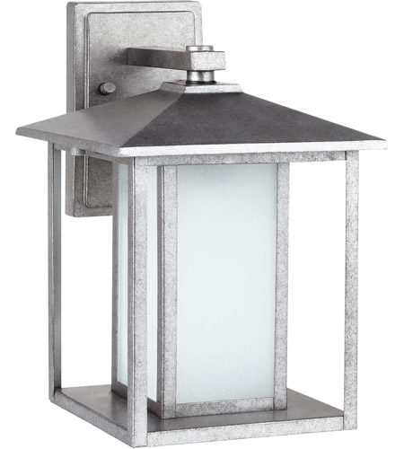 Sea Gull Hunnington 1 Light Outdoor Wall Lantern in Weathered Pewter 89031BLE-57