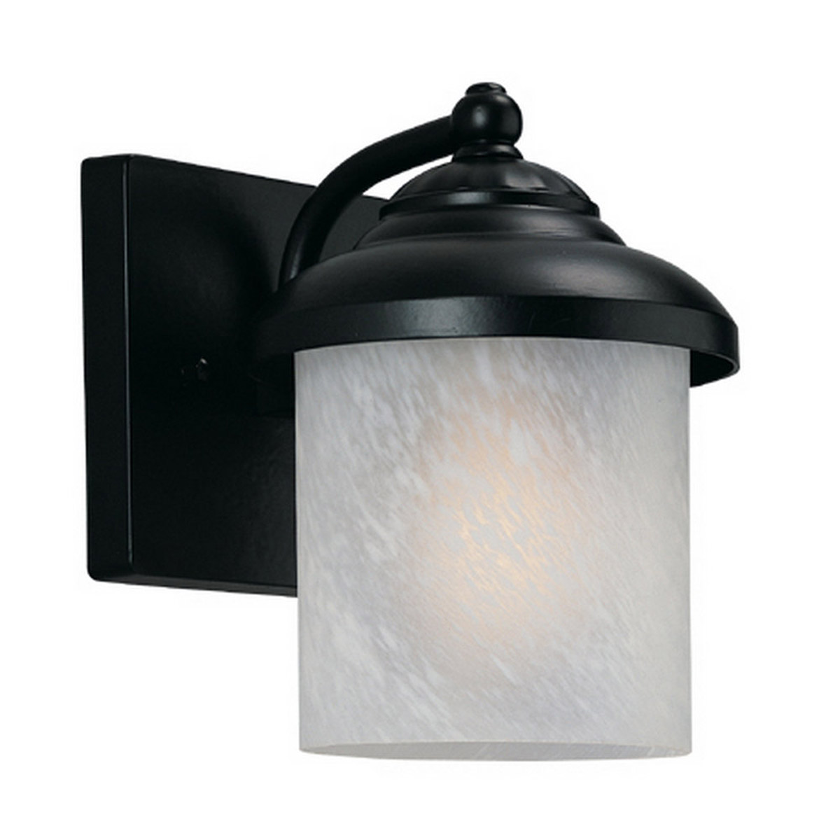 Sea Gull Lighting Yorktown 1 Light Outdoor Wall Lantern in Black 89048BLE-12 photo