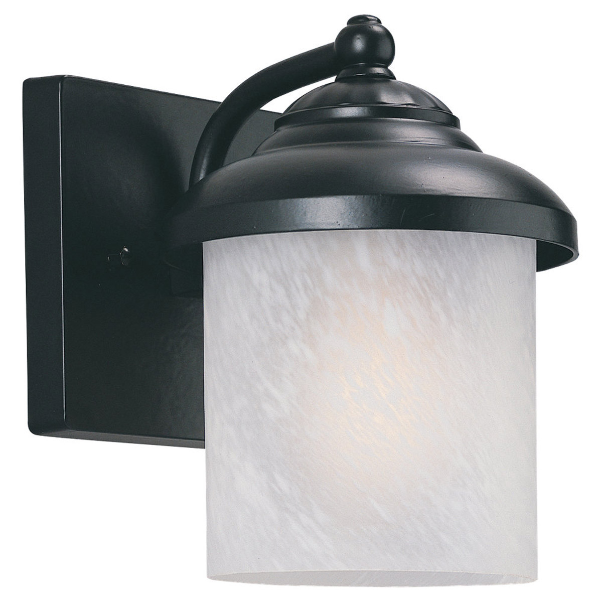 Sea Gull 89048PBLE-12 Yorktowne 1 Light 8 inch Black Outdoor Wall Lantern in Photocell, Energy Efficient photo