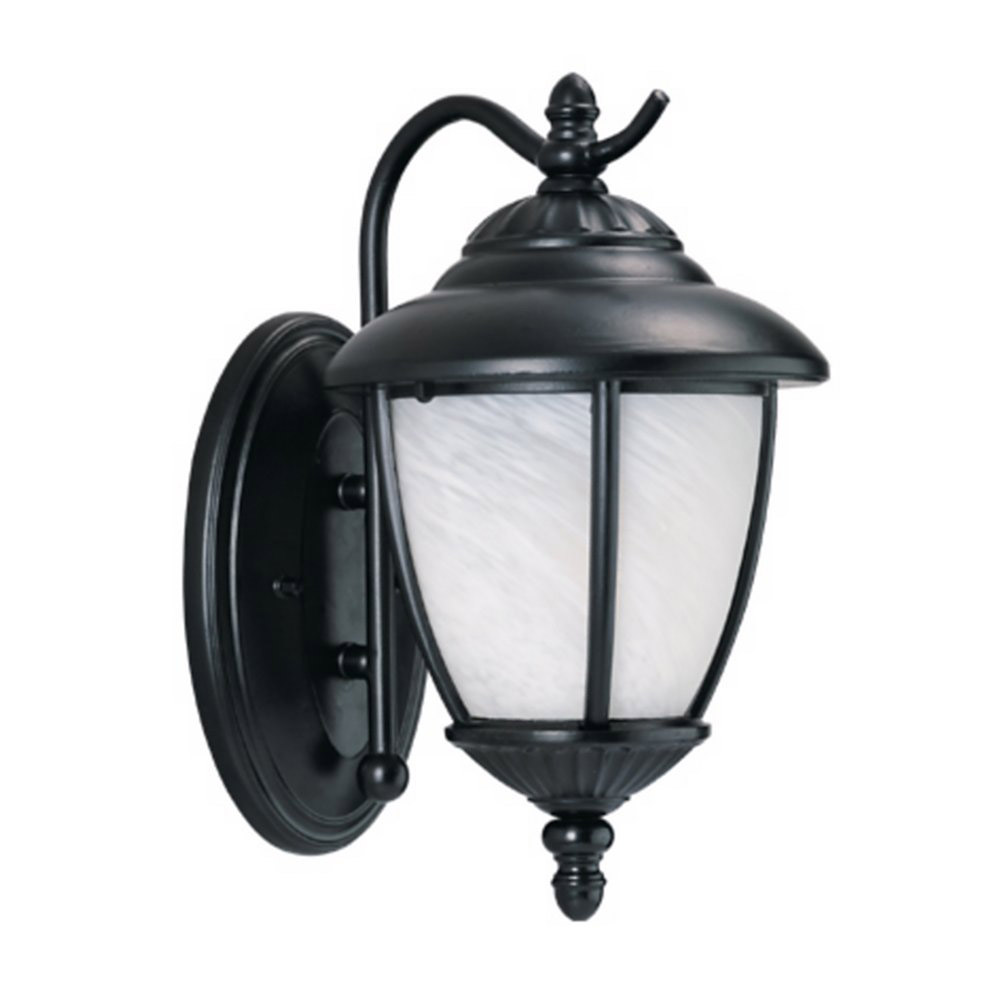 Sea Gull Lighting Yorktown 1 Light Outdoor Wall Lantern in Black 89049BLE-12