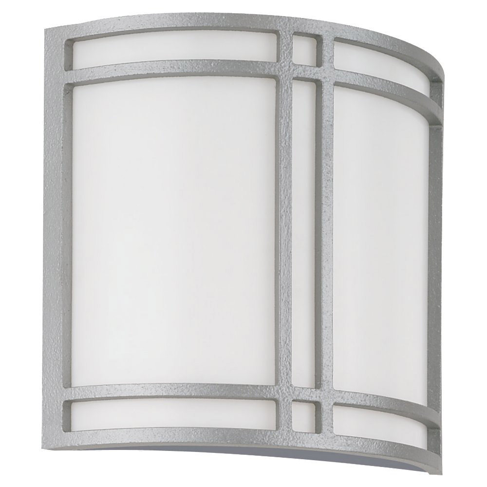 Sea Gull 89060BLE-755 Piedmont 2 Light 11 inch Pewter Outdoor Wall Lantern in No Photocell photo