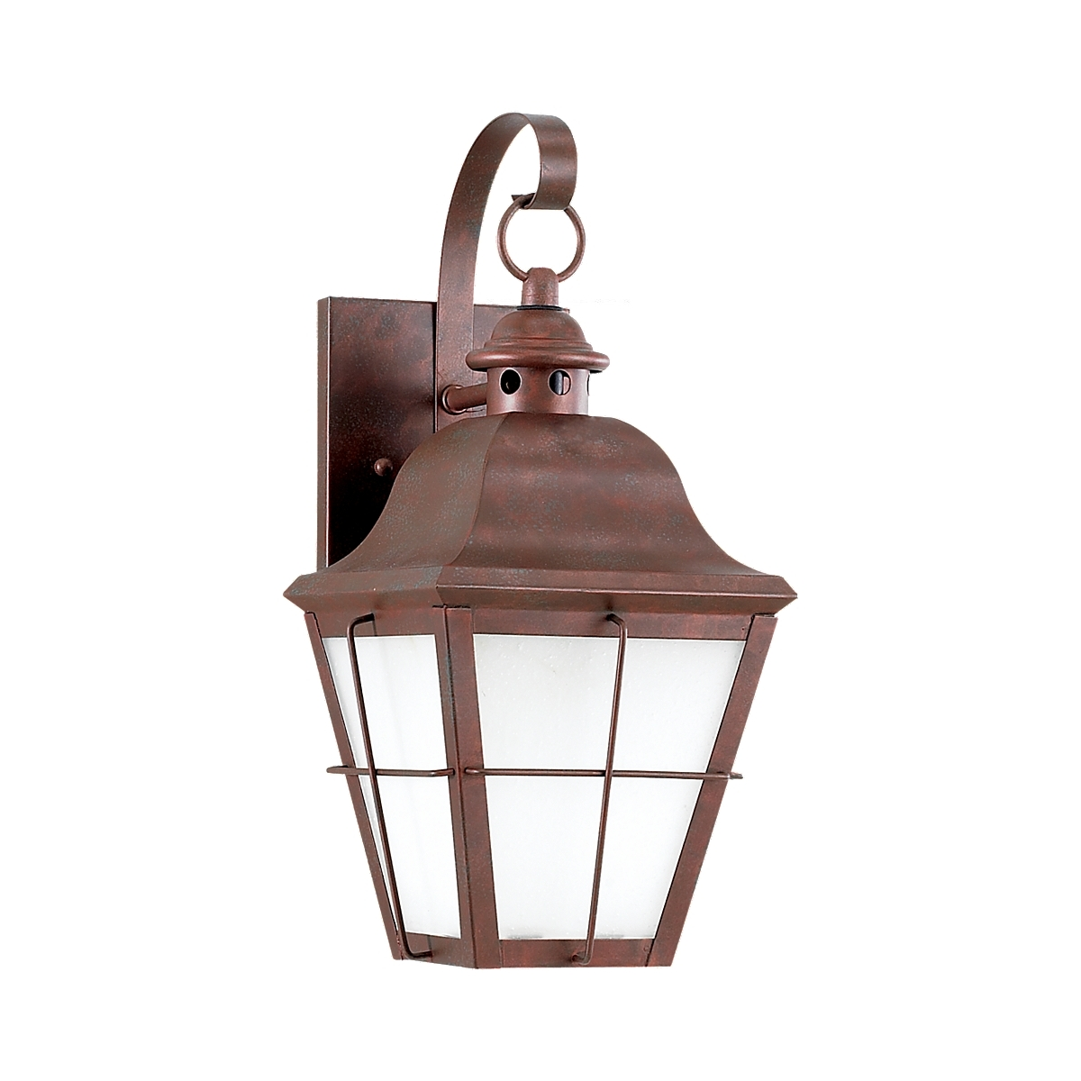 Sea Gull 89062BLE-44 Chatham 1 Light 15 inch Weathered Copper Outdoor Wall Lantern in No Photocell, Energy Efficient photo